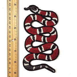 "6"" Snake Embroidered Iron-On Applique Patch by PC, TR-11387N"