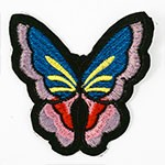 Butterfly Embroidered Iron-On Applique Patch by  PC, TR-11428