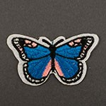 Butterfly Embroidered Iron-On Applique Patch by PC, TR-11465