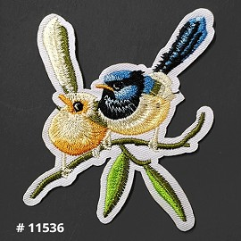 Bird Embroidered Iron-On Applique Patch by 1 PC, TR-11536