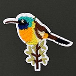 Bird Embroidered Iron-On Applique Patch by 1 PC, TR-11538
