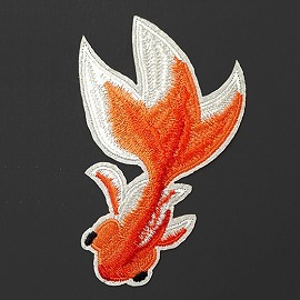 Fish Embroidered Iron-On Applique Patch by 1 PC, TR-11539