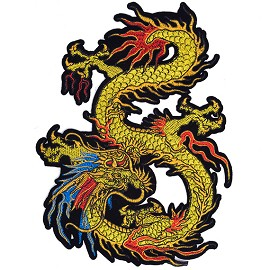 "9-1/2"" Dragon Embroidered Iron-On Patch by 1 pc, TR-11561"