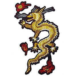 "9-1/2"" Dragon Embroidered Iron-On Patch by 1 pc, TR-11564"