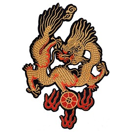 "12"" Dragon Embroidered Iron-On Patch by 1 pc, TR-11565"