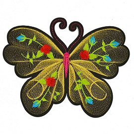 Butterfly Embroidered Iron-On Applique Patch by 1 PC, TR-11579