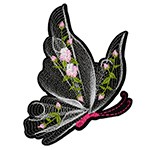 Butterfly Embroidered Iron-On Applique Patch by 1 PC, TR-11580
