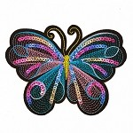 Butterfly Embroidered Sequin Iron-On Applique Patch by 1 PC, TR-11581