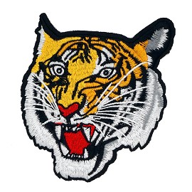 "5"" Tiger Embroidered Iron-On Applique Patch, Embroidery Patch by 1 pc, TR-11583"