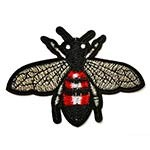 Bee Embroidered Iron-On Applique Patch by 1 PC, TR-11629