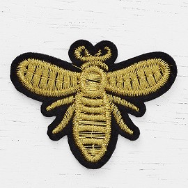 "2"" X 1-5/8"" Bee Embroidered Iron-On Patch, Embroidery Applique by pc, TR-11661"