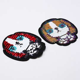 Reversible flip Sequin Patch Applique by PC, TR-11878