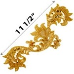 Sequin Beaded Applique Patch by PC, FF-FF1129