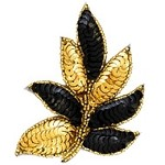 Leaf Sequin Beaded Applique Patch by PC, FF-FF476