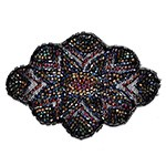 Dark Multi Combo Beaded Applique Patch by PC, FF-FF966