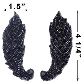 Beaded Applique Patch by PAIR (2 PCS), FF-SD1117