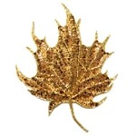 Maple Leaf Sequin  Beaded Applique Patch by PC, FF-1355