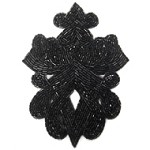 Beaded Applique Patch by PC, FF-2834