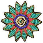 Stitch-on Beaded Applique Patch by PC, OSB-30479