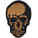 Skull Sequin Iron-On Applique Patch by PC, TR-11874