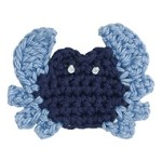 Crab Crochet Applique Patch by PC, DES-CCB70