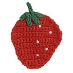 Strawberry Crochet Applique by PC, CR-DES-CSY59
