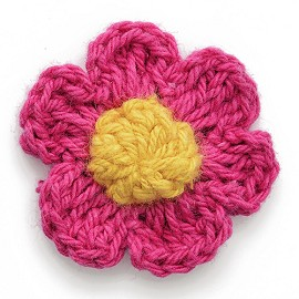 Flower Crochet Applique Patch by PC, MAK-CT44