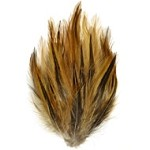 Natural Furnace Hackle Feather Pad Applique Patch by PC, TFP-P595FN