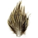 Natural Badger Hackle Feather Pad Applique Patch by PC, TFP-P595BN