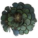 Natural Bronze-Iridescent Medallion Feather Pad Applique Patch by PC, TFP-PM5130BRZ