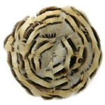 Natural Partridge Medallion Feather Pad Applique Patch by PC, TFP-PM7100