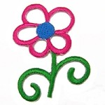 Flower Iron-on Applique Patch by PC, PA-IA-T03977