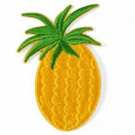 Pineapple Embroidered Iron-On Applique Patch by PC, TR-11310