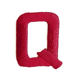 "1"" RED Alphabet Letter Iron-on Patch Applique by PC, LETTER-RED-1"