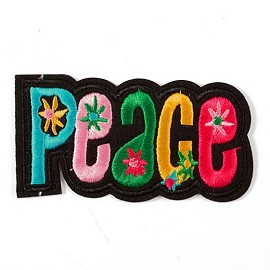 Peace Embroidered Iron-On Applique Patch by PC, TR-11314