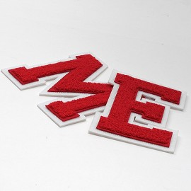 "eJoyce 4-1/2"" Red Chenille Stitch Varsity Iron-On Applique Patch by PC, TR-11648"