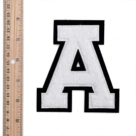 "eJoyce 4-1/2"" White Chenille Stitch Varsity Iron-On Applique Patch by PC, TR-11648"