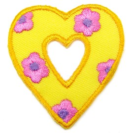 Flower Heart Iron-on Applique Patch by PC, PA-IA-T03552