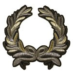 Laurel Wreath Embroidered Iron-On Applique Patch by PC, TR-11297