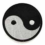 Yin Yang Embroidered Iron-On Applique Patch by PC, TR-11507