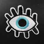 Eyeball Embroidered Iron-On Applique Patch by PC, TR-11511