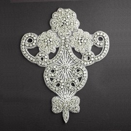 Rinestones Beaded Applique Patch by PC, FF-6050
