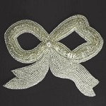 Ribbon Rinestones Beaded Applique Patch by PC, FF-770A