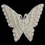 Butterfly Rhinestone Beaded Applique Patch by PC, FF-FF42