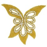 Butterfly Rhinestone Beaded Applique Patch by PC, FF-J06-085