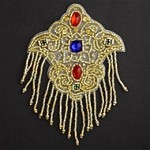 Rinestones Beaded Applique Patch by PC, FF-SD1100