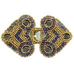 Acrylic Rinestones Beaded Applique Patch by PC, FF-V778