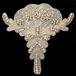 Rhinestone Beaded Applique Patch by PC, FF-6034