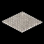 Rhinestone Applique Patch by PC, FF-7076