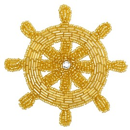 Nautical Rinestones Beaded Applique Patch by PC, FF-FF4109